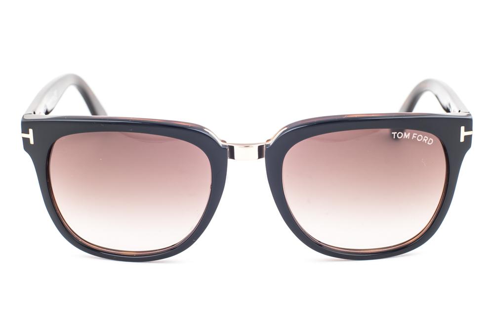 Tom Ford Rock Shiny Black / Brown Gradient Sunglasses TF290 01F | eBay