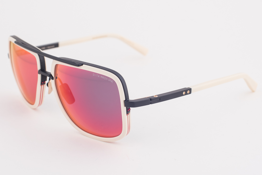 a26fdd3d15b9 DITA MACH ONE Bone   Red Flash Mirrored Sunglasses DRX-2030-K 59mm ...