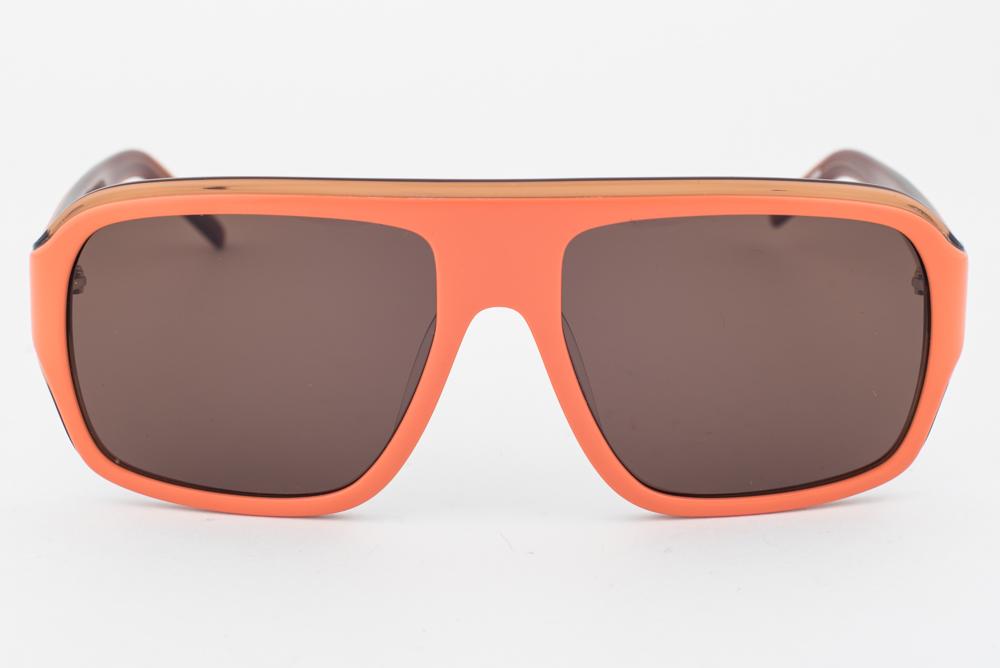 LACOSTE Designer Sunglasses Transparent Orange Purple Flash Mirror L750S 800
