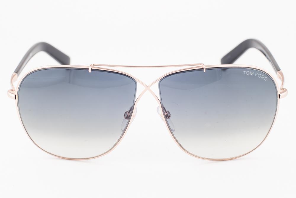 7c07997790d3 New Tom Ford April Black Gold   Gray Gradient Aviator Sunglasses TF393 28P
