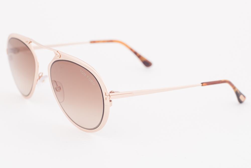 fe103e63962 Tom Ford Dashel Rose Gold   Brown Gradient Sunglasses TF508 28F ...