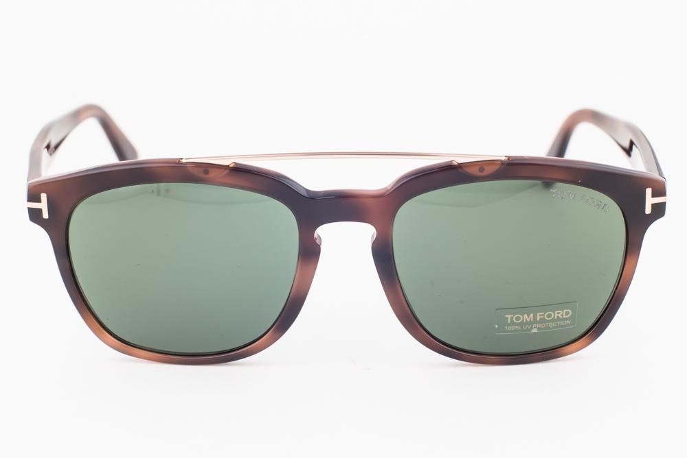 67498360f3e Tom Ford Holt Blonde Havana Gold   Green Sunglasses TF516 53N ...