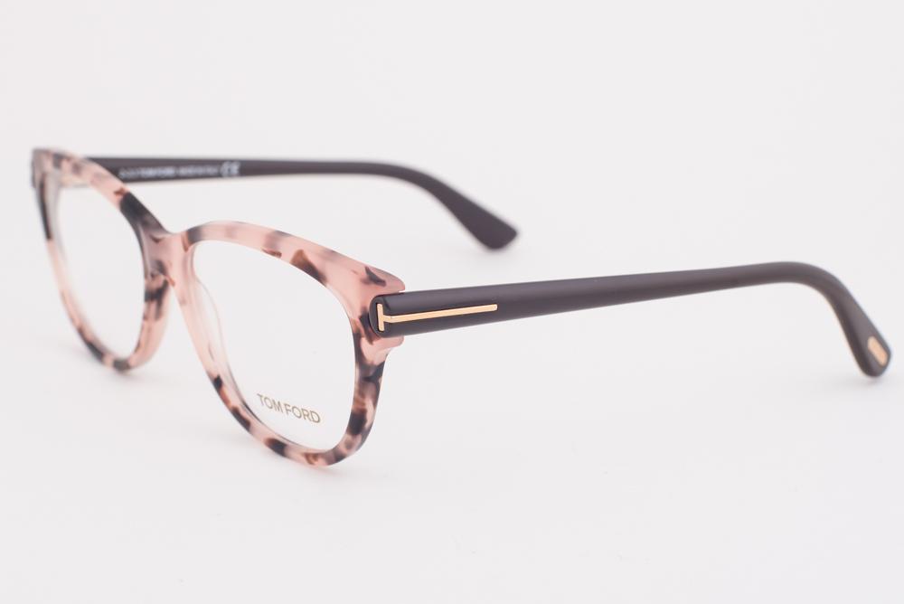 0e0d3058aa3 Tom Ford 5287 074 Pink Havana Brown Eyeglasses TF5287 074 55mm ...