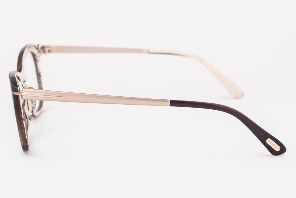 133f44d336 Tom Ford 5353 050 Dark Brown Gold Eyeglasses TF5353 050 52mm ...