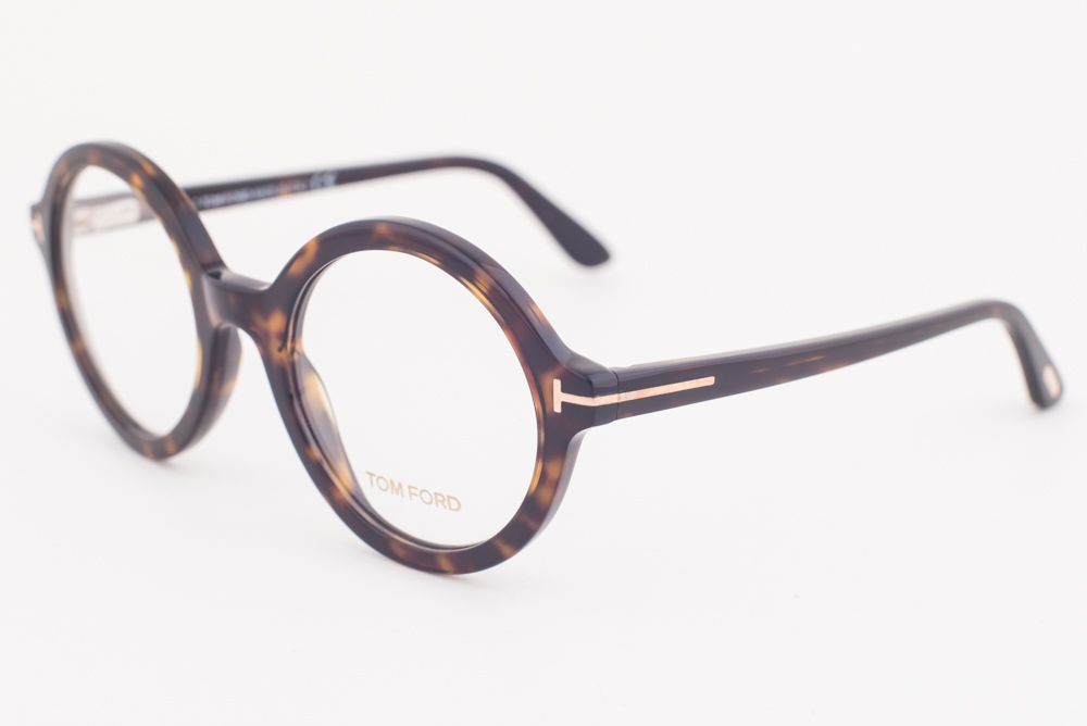 14f7b3bd26f2 Tom Ford 5461 052 Dark Havana Round Eyeglasses TF5461 052 52mm