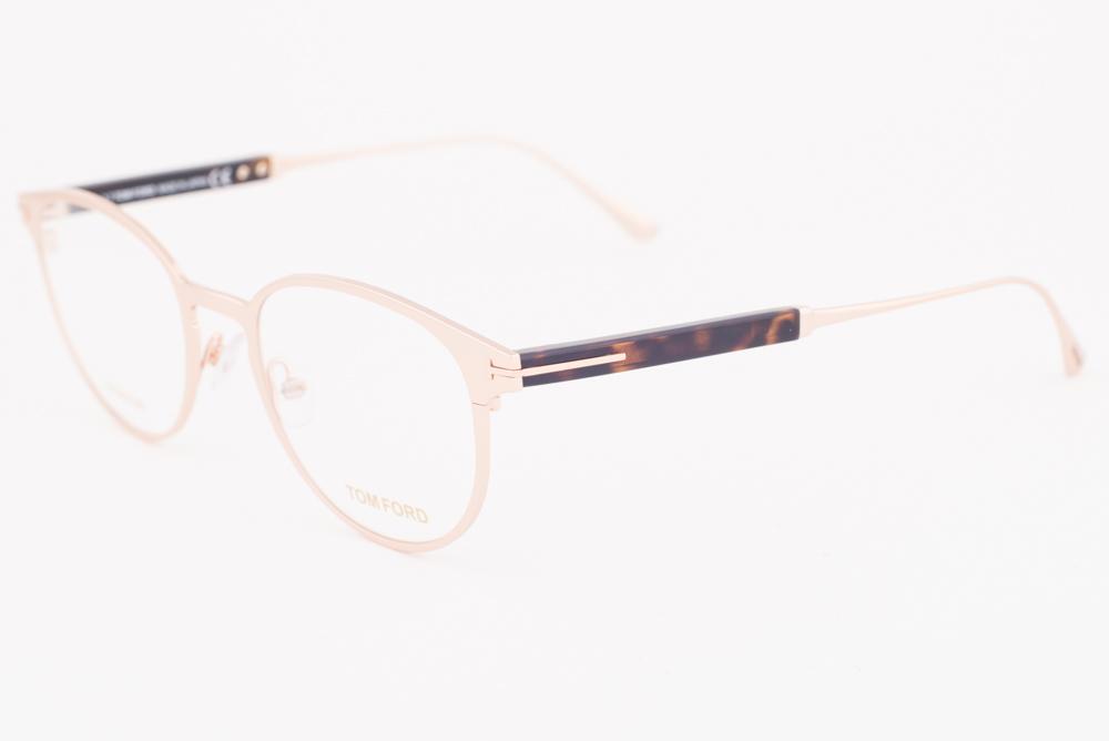 0af3609495 Tom Ford 5482 028 Shiny Rose Gold Titanium Eyeglasses TF5482-028 ...