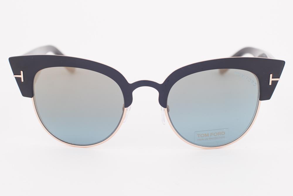 d32bc91cfbc New Tom Ford ALEXANDRA Matte Black   Blue Gradient Sunglasses TF607-05X  ALEXANDRA-02