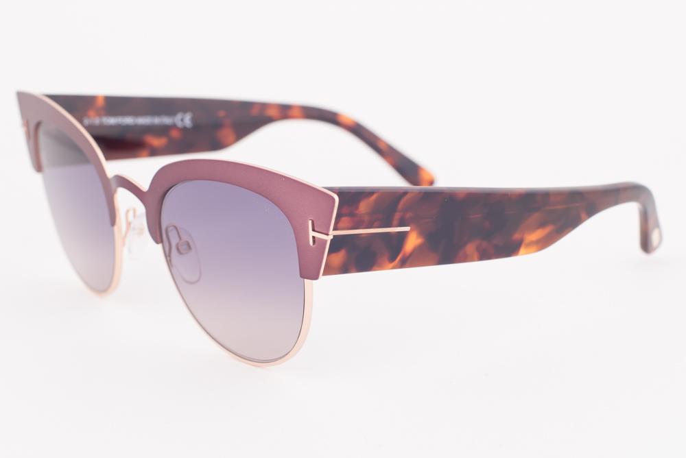 27dea3af3c5ee Tom Ford ALEXANDRA Pink Havana   Gray Gradient Sunglasses TF607-74B ...
